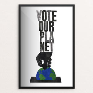 "A Vote For The Future by Roland Tiffany 12"" by 18"" Print / Framed Print Vote Our Planet"
