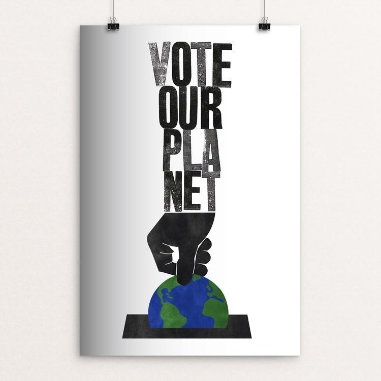 "A Vote For The Future by Roland Tiffany 12"" by 18"" Print / Unframed Print Vote Our Planet"