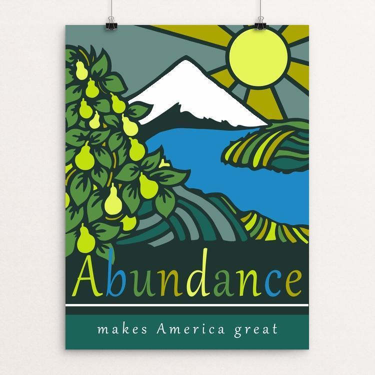 "Abundance by Holly Savas 12"" by 16"" Print / Unframed Print What Makes America Great"