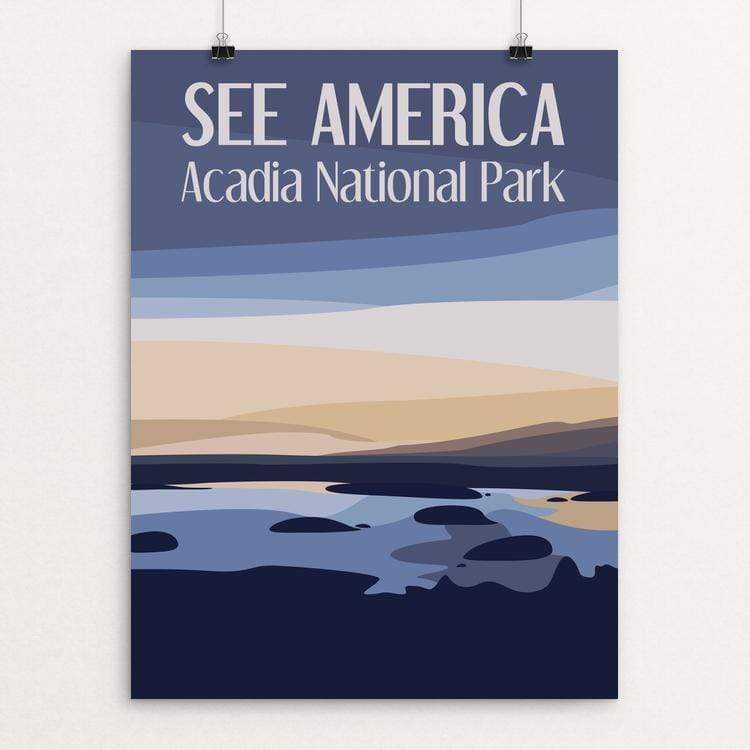 "Acadia National Park by Sarah McMahon 18"" by 24"" Print / Unframed Print See America"