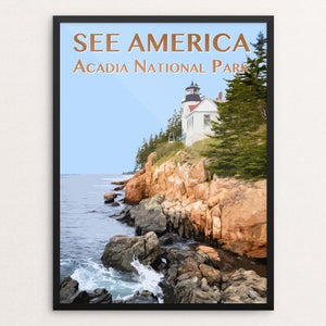 "Acadia National Park by Zack Frank 12"" by 16"" Print / Framed Print See America"