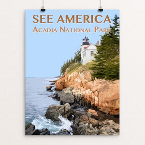 "Acadia National Park by Zack Frank 12"" by 16"" Print / Unframed Print See America"