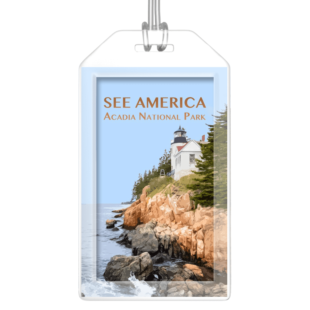 Acadia National Park Luggage Tags by Zack Frank Lustre Paper Luggage Tag See America