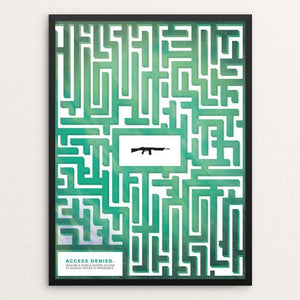 "Access Denied by Jennifer Brigham 12"" by 16"" Print / Framed Print The Gun Show"