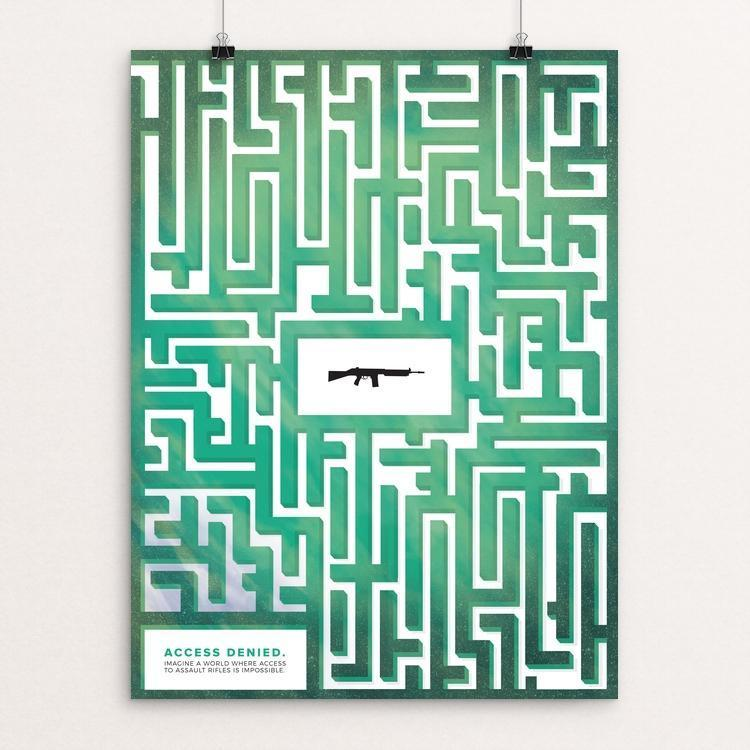 "Access Denied by Jennifer Brigham 12"" by 16"" Print / Unframed Print The Gun Show"