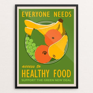 "Access to Healthy Food by Lisa Vollrath 18"" by 24"" Print / Framed Print Green New Deal"