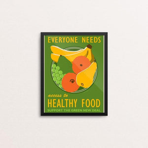 "Access to Healthy Food by Lisa Vollrath 8"" by 10"" Print / Framed Print Green New Deal"