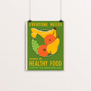 "Access to Healthy Food by Lisa Vollrath 8"" by 10"" Print / Unframed Print Green New Deal"