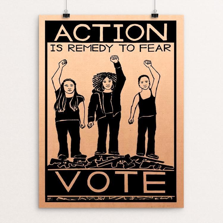 Action is Remedy to Fear by Jennifer Bloomer