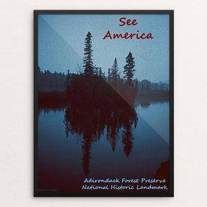 "Adirondack Forest Preserve National Historic Landmark by Anthony Chiffolo 12"" by 16"" Print / Framed Print See America"