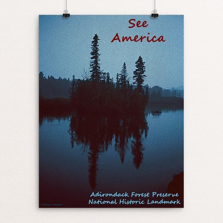 "Adirondack Forest Preserve National Historic Landmark by Anthony Chiffolo 12"" by 16"" Print / Unframed Print See America"
