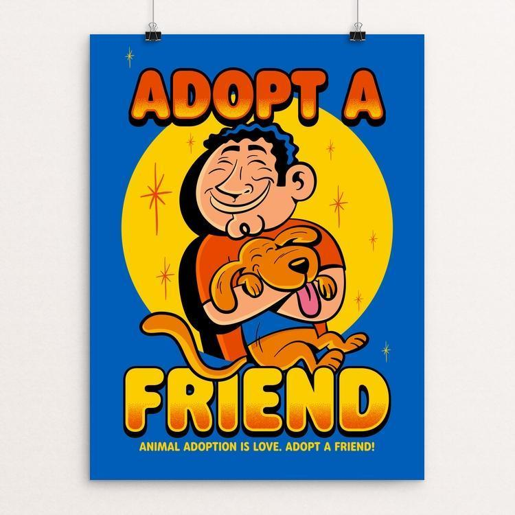 "Adopt a FRIEND by Roberlan Paresqui 12"" by 16"" Print / Unframed Print Creative Action Network"