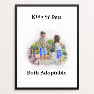 "Adopt A Pet by Christine Lathrop 12"" by 16"" Print / Framed Print Creative Action Network"
