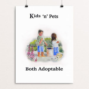 "Adopt A Pet by Christine Lathrop 12"" by 16"" Print / Unframed Print Creative Action Network"