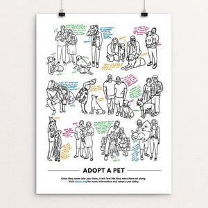 "Adopt A Pet by Danielle Deley 12"" by 16"" Print / Unframed Print Creative Action Network"