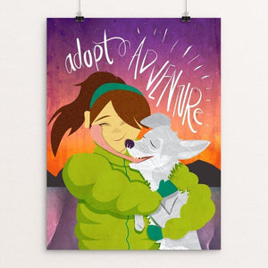 "Adopt Adventure by Blair Strong 12"" by 16"" Print / Unframed Print Creative Action Network"