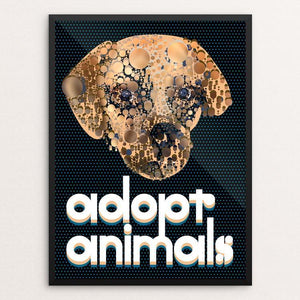 "Adopt Animals by Trevor Messersmith 12"" by 16"" Print / Framed Print Creative Action Network"