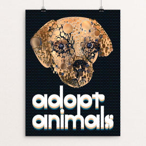 "Adopt Animals by Trevor Messersmith 12"" by 16"" Print / Unframed Print Creative Action Network"