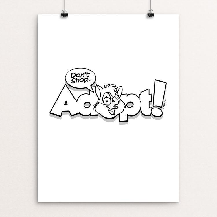 "Adopt! by David Hays 12"" by 16"" Print / Unframed Print Creative Action Network"