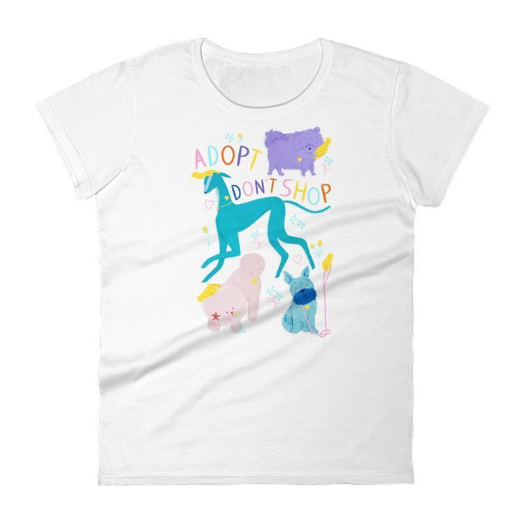Adopt Don't Shop T-Shirt by Lorraine Nam