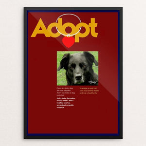 "Adopting Makes Us Happier 2 by Bob Rubin 12"" by 16"" Print / Framed Print Creative Action Network"