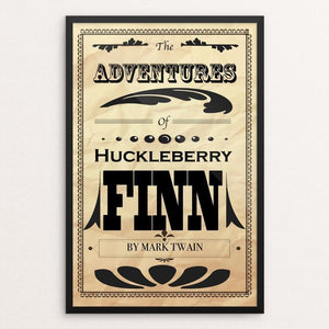 "Adventures of Huckleberry by Evan Wick 12"" by 18"" Print / Framed Print Recovering the Classics"