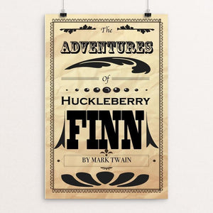 "Adventures of Huckleberry by Evan Wick 12"" by 18"" Print / Unframed Print Recovering the Classics"