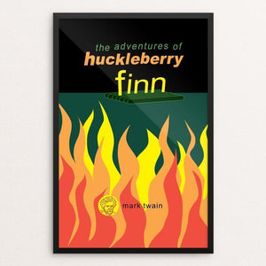 "Adventures of Huckleberry by Robert Wallman 12"" by 18"" Print / Framed Print Recovering the Classics"