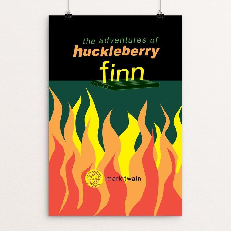 "Adventures of Huckleberry by Robert Wallman 12"" by 18"" Print / Unframed Print Recovering the Classics"