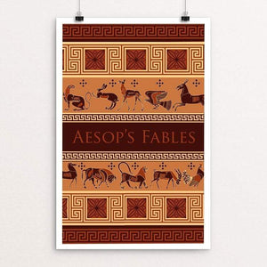 "Aesop's Fables by Kirsten Beard 12"" by 18"" Print / Unframed Print Recovering the Classics"