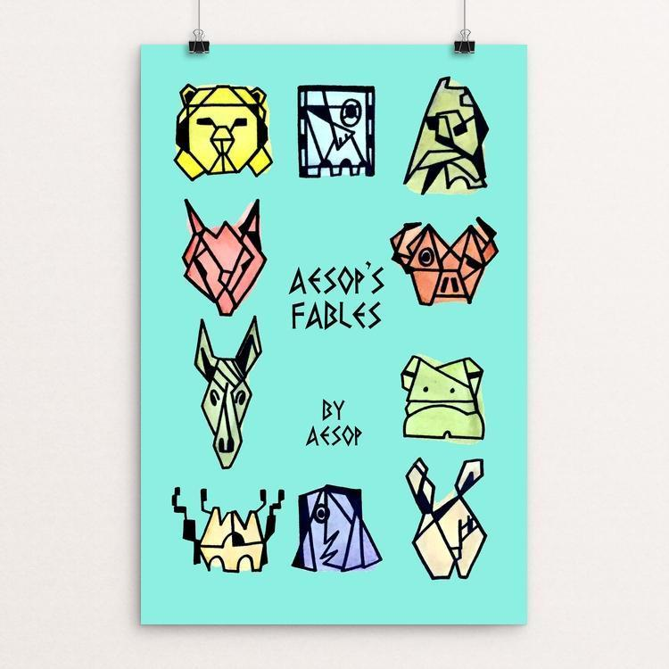 "Aesop's Fables by Paul Morris 12"" by 18"" Print / Unframed Print Recovering the Classics"