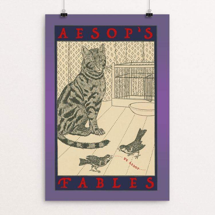 "Aesop's Fables by Vivian Chang 12"" by 18"" Print / Unframed Print Recovering the Classics"