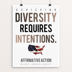 "Affirmative Action by Christopher Wachter 12"" by 16"" Print / Unframed Print What Makes America Great"
