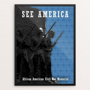 "African American Civil War Memorial by Bee Joy 12"" by 16"" Print / Framed Print See America"