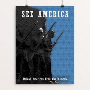 "African American Civil War Memorial by Bee Joy 12"" by 16"" Print / Unframed Print See America"