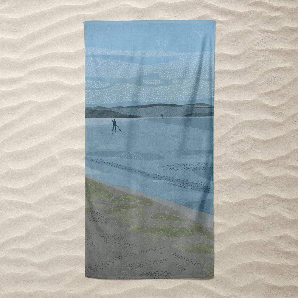 Afternoon at Alki Beach by Chelsea Vaught Beach Towel Ocean Love