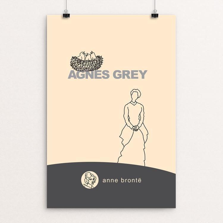 "Agnes Grey by Robert Wallman 12"" by 18"" Print / Unframed Print Recovering the Classics"
