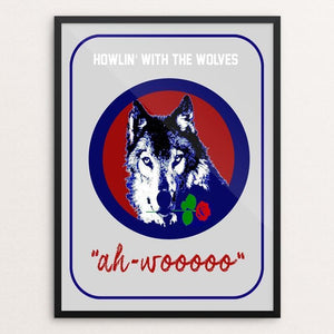 "Ah-Woooo by Bob Rubin 18"" by 24"" Print / Framed Print Join the Pack"