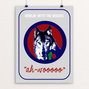 "Ah-Woooo by Bob Rubin 18"" by 24"" Print / Unframed Print Join the Pack"