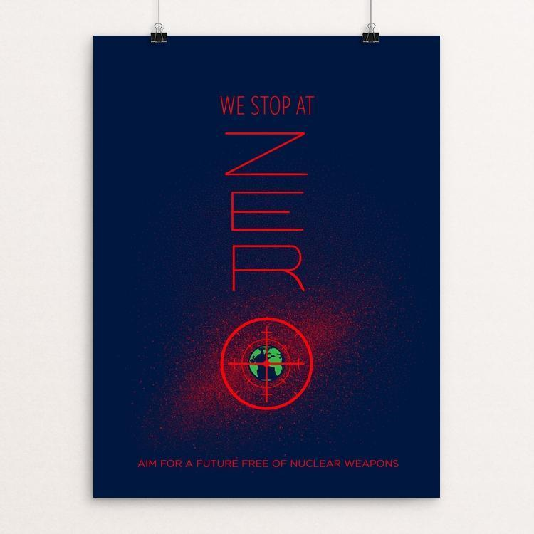 "Aim For Zero by Sayada Ramdial 12"" by 16"" Print / Unframed Print Demand Zero!"