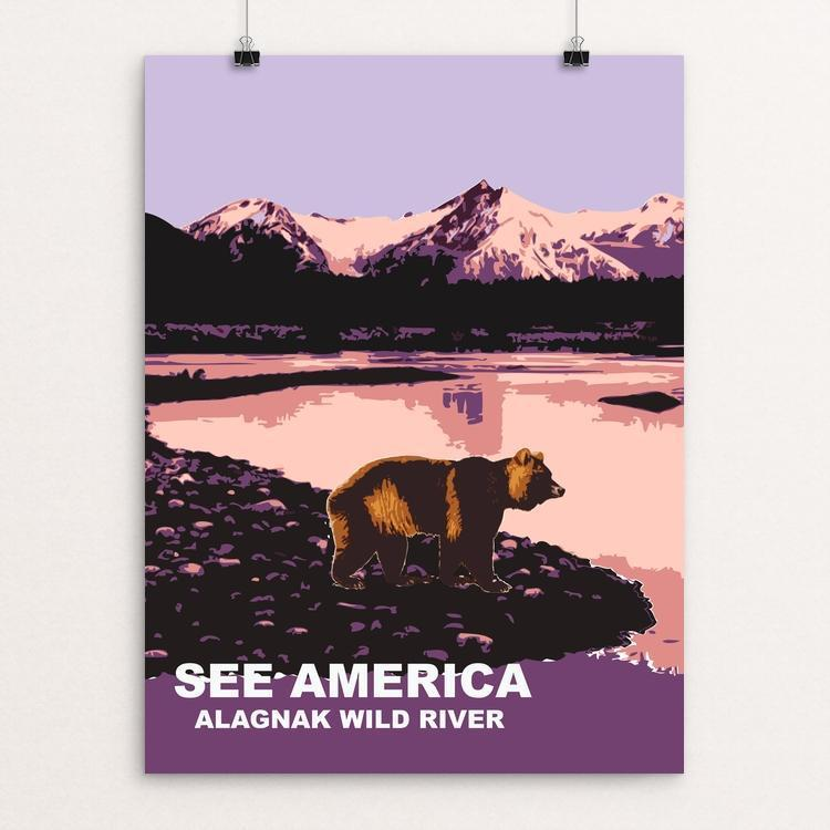 "Alagnak Wild River By Nok Hang Kwok 18"" by 24"" Print / Unframed Print See America"