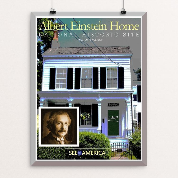 "Albert Einstein House by Bob Rubin 12"" by 16"" Print / Unframed Print See America"