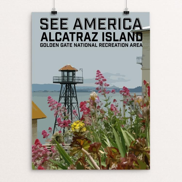 "Alcatraz Island, Golden Gate National Recreation Area by Daniel Gross 12"" by 16"" Print / Unframed Print See America"