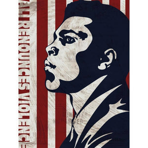 "Ali Denounces Violence by Mark Forton 18"" by 24"" Print / Unframed Print Transcend - Moments in Sports that Changed the Game"