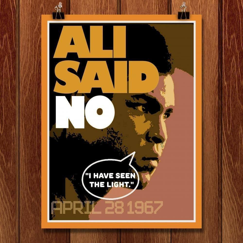 "Ali Said No by Bob Rubin 18"" by 24"" Print / Unframed Print Transcend - Moments in Sports that Changed the Game"