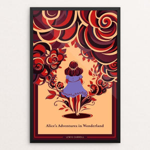 "Alice's Adventures in Wonderland by Alice Wang 12"" by 18"" Print / Framed Print Recovering the Classics"