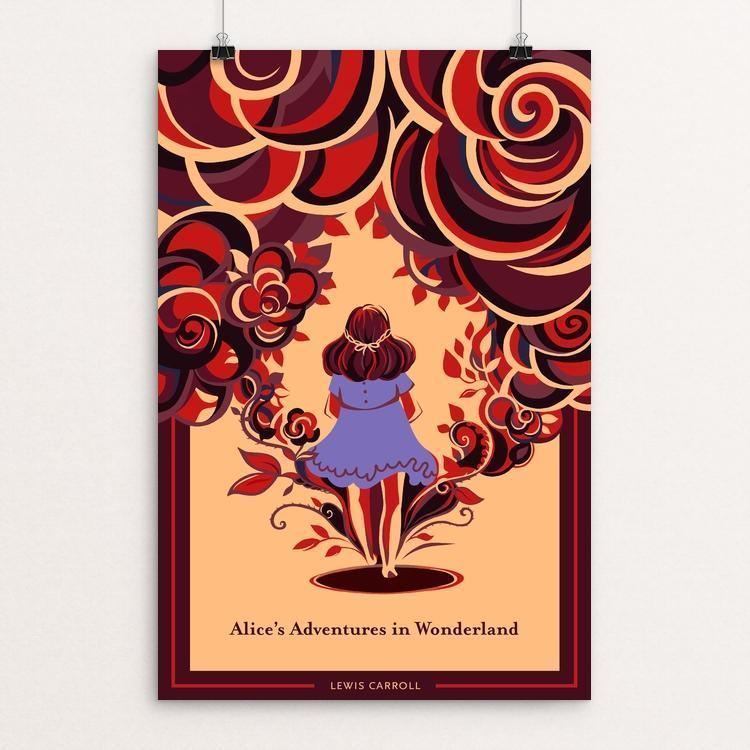 "Alice's Adventures in Wonderland by Alice Wang 12"" by 18"" Print / Unframed Print Recovering the Classics"