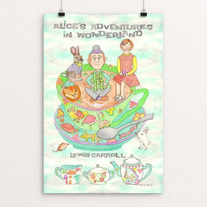 "Alice's Adventures in Wonderland by Laura Levie 12"" by 18"" Print / Unframed Print Recovering the Classics"