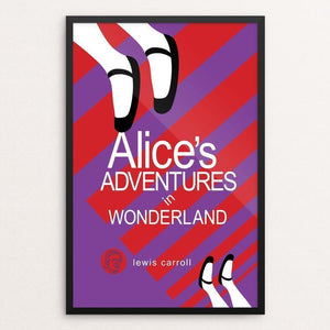"Alice's Adventures in Wonderland by Robert Wallman 12"" by 18"" Print / Framed Print Recovering the Classics"