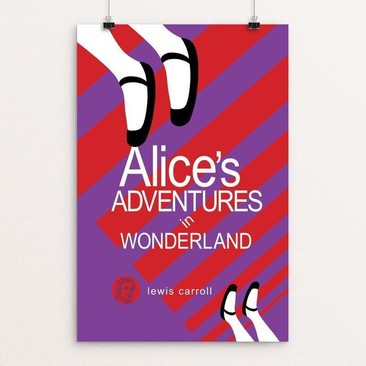 "Alice's Adventures in Wonderland by Robert Wallman 12"" by 18"" Print / Unframed Print Recovering the Classics"